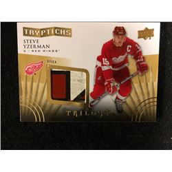 "2014-15 Upper Deck Trilogy Tryptichs ""Stick"" Steve Yzerman"