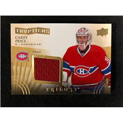 2014-15 Carey Price Trilogy Tryptichs Jersey