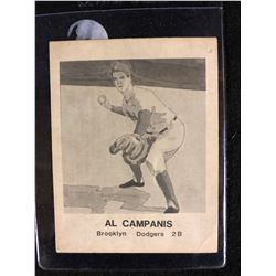 AL CAMPANIS (BROOKLYN DODGERS 2B) BASEBALL CARD