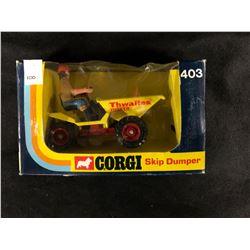 VINTAGE CORGI SKIP DUMPER #403 (IN BOX)