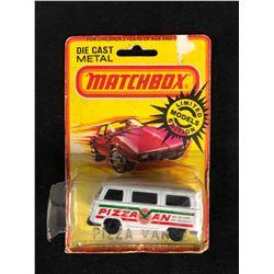 VINTAGE MATCHBOX DIE-CAST METAL PIZZA VAN (NIB)