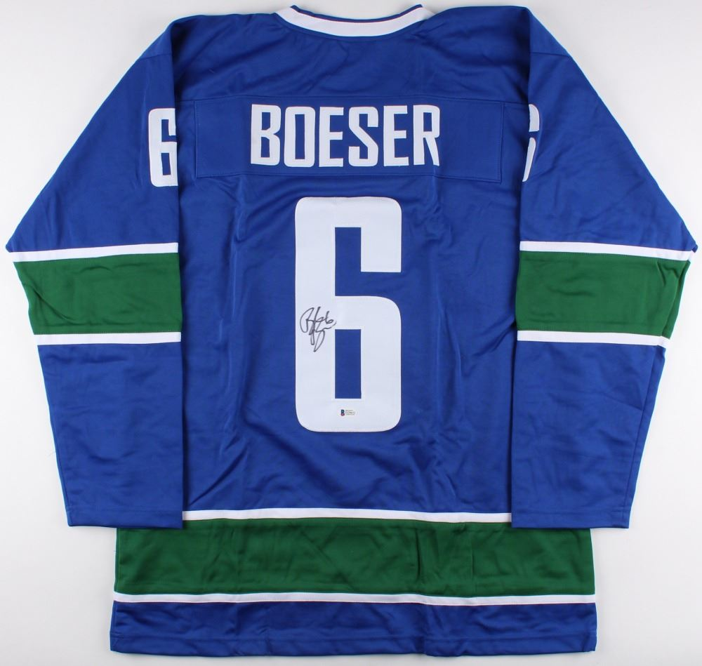 meet 8c57a f0c1a Brock Boeser Signed Canucks Jersey (Beckett COA)