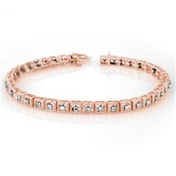 1.0 CTW Certified VS/SI Diamond Bracelet 10K Rose Gold - REF-87N5Y - 10732
