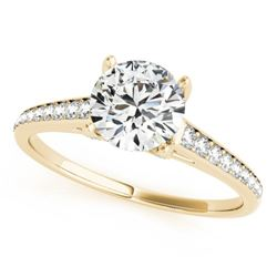 1.2 CTW Certified VS/SI Diamond Solitaire Ring 18K Yellow Gold - REF-208K2W - 27461