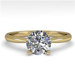 1.01 CTW VS/SI Diamond Engagement Designer Ring 18K Yellow Gold - REF-284T8M - 32401