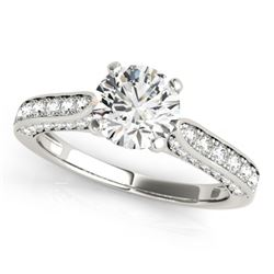 1.1 CTW Certified VS/SI Diamond Solitaire Ring 18K White Gold - REF-152M2H - 27519
