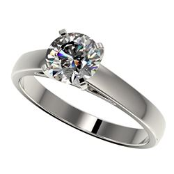 1.26 CTW Certified H-SI/I Quality Diamond Solitaire Engagement Ring 10K White Gold - REF-191W3F - 36