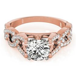 1.25 CTW Certified VS/SI Diamond Solitaire Ring 18K Rose Gold - REF-223N3Y - 27835