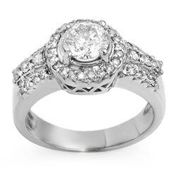 1.65 CTW Certified VS/SI Diamond Ring 14K White Gold - REF-374F9N - 11384