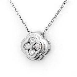 0.25 CTW Certified VS/SI Diamond Necklace 18K White Gold - REF-37X3T - 10514