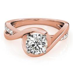 0.9 CTW Certified VS/SI Diamond Solitaire Ring 18K Rose Gold - REF-206K8W - 27454