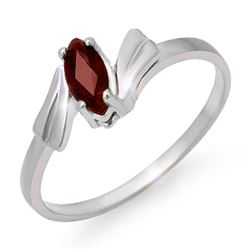 0.32 CTW Ruby Ring 10K White Gold - REF-10A2X - 12891