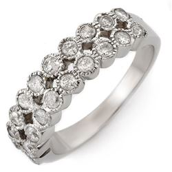 0.75 CTW Certified VS/SI Diamond Ring 14K White Gold - REF-52N8Y - 10802