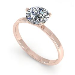 0.50 CTW Certified VS/SI Diamond Engagement Ring Martini 14K Rose Gold - REF-69F2N - 38322