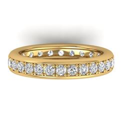 1.33 CTW Certified VS/SI Diamond Eternity Band Ladies 14K Yellow Gold - REF-98M5H - 30329