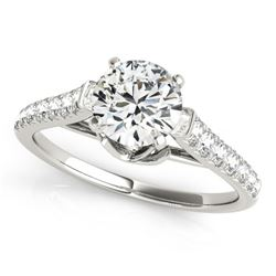 1.25 CTW Certified VS/SI Diamond Solitaire Ring 18K White Gold - REF-206Y4K - 27570