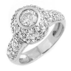 2.20 CTW Certified VS/SI Diamond Ring 18K White Gold - REF-195N3Y - 13361