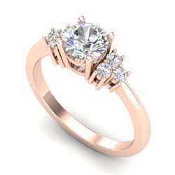 1 CTW VS/SI Diamond Ring Size 7 18K Rose Gold - REF-227M3H - 36936