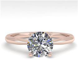 1.0 CTW VS/SI Diamond Engagement Designer Ring 14K Rose Gold - REF-272H3A - 38451
