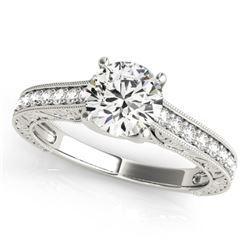 1.07 CTW Certified VS/SI Diamond Solitaire Ring 18K White Gold - REF-200K5W - 27555