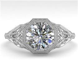 1.50 CTW VS/SI Diamond Solitaire Engagement Ring 18K White Gold - REF-547T6M - 36048