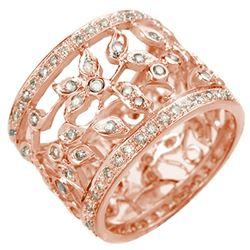 1.30 CTW Certified VS/SI Diamond Ring 14K Rose Gold - REF-103X3T - 10658
