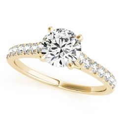1.45 CTW Certified VS/SI Diamond Solitaire Ring 18K Yellow Gold - REF-374W2F - 27593