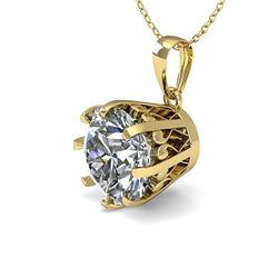 1 CTW VS/SI Diamond Solitaire Necklace 18K Yellow Gold - REF-280W2F - 35713