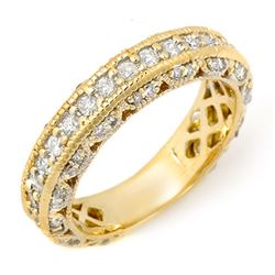 1.10 CTW Certified VS/SI Diamond Band 14K Yellow Gold - REF-102A8X - 11744