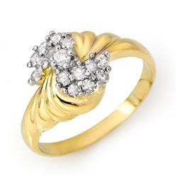 0.25 CTW Certified VS/SI Diamond Ring 10K Yellow Gold - REF-28H8A - 14325