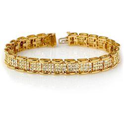 7.0 CTW Certified VS/SI Diamond Bracelet 14K Yellow Gold - REF-420K8W - 14080