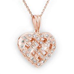 0.38 CTW Certified VS/SI Diamond Necklace 14K Rose Gold - REF-51Y3K - 13750