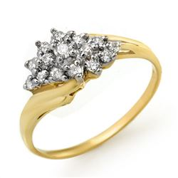 0.25 CTW Certified VS/SI Diamond Ring 14K Yellow Gold - REF-31M5H - 13593