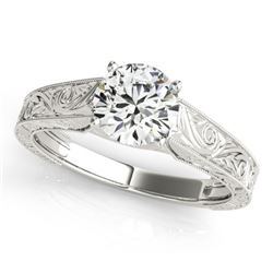 0.75 CTW Certified VS/SI Diamond Solitaire Ring 18K White Gold - REF-180M5H - 27807