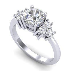 1.5 CTW VS/SI Diamond Solitaire Ring 18K White Gold - REF-409A3X - 36938