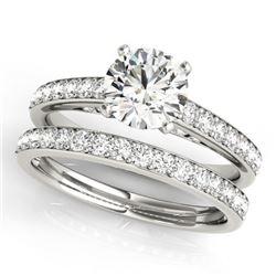 1.91 CTW Certified VS/SI Diamond Solitaire 2Pc Wedding Set 14K White Gold - REF-401M5H - 31607