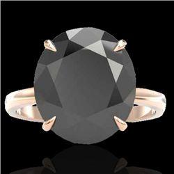 9 CTW Black VS/SI Diamond Designer Engagement Ring 14K Rose Gold - REF-201K6W - 22094