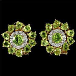 NATURAL APPLE GREEN PERIDOT Earrings