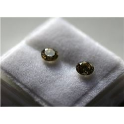 0.68 Ct Light Green Natural Diamond Pair - SI2