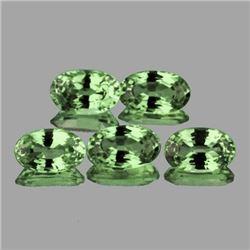 Natural Green Sapphire (5 Pcs) 5x3.5 MM - FL