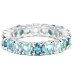 Natural  LONDON, SWISS, SKY BLUE TOPAZ & APATITE Ring