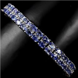 Natural Tanzanite 7 Inch Bracelet