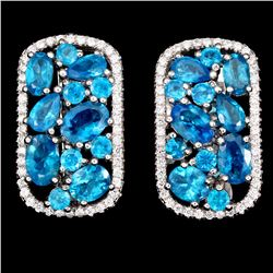 Natural Paraiba Blue Apatite Earrings