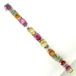 Natural Fancy Sapphire & Ruby Bracelet