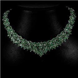 Natural Green Emerald 331 Carats Necklace