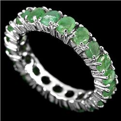 NATURAL GREEN EMEALD Eternity Band/Ring