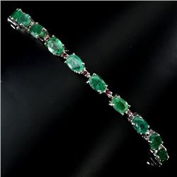 Natural Green Emerald Ruby 53.84 Cts  Bracelet