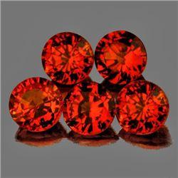 Natural Intense Orange Sapphire 3.80 mm - VVS
