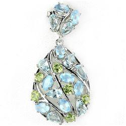 Natural Multi Gemstones Pendant