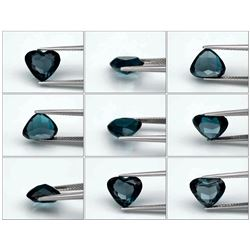Natural London Blue Topaz Heart 3.58 Carats